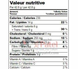 Garvi Gujarat 3 in One Puri Nutrition Fact