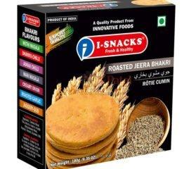 i Snacks roasted Jeera Bhakri