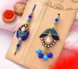 Fancy Blue Beads set