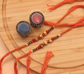 Fancy Beads Set of Two Rakhis