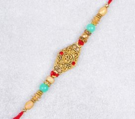 Amazing Aum Metallic Beads Rakhi