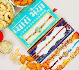Devine Set Of 3 Rakhis With Dryfruits