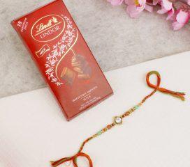 Multicolour Diamond Rakhi Thread Chocolate Hamper