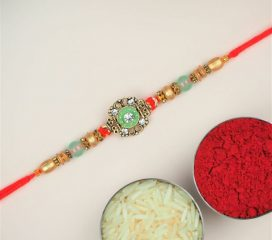 Sparkling Colourful Gems Rakhi