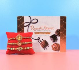 Three Rakhi Set with Russell Stover Assorted Chocolate