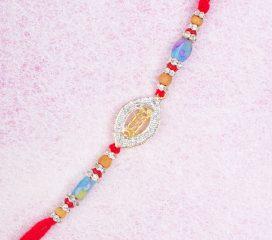 Veera Designer Diamond Rakhi Thread